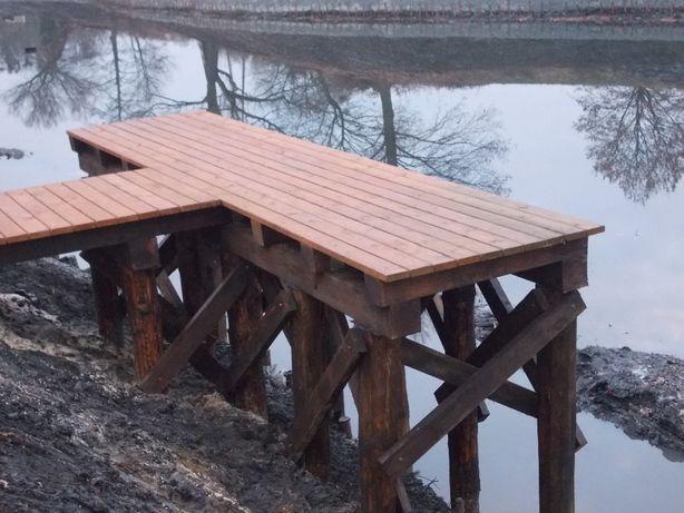 budowa pomostów , kafar , wbijanie pali, budowa promenady i ścieżek Ołobok - image 6