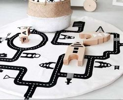 Śliczna mata edukacyjna / dywanik do zabawy styl skandynawski