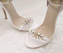 Klipsy do butów CLARA biżuteria ozdobna klamerki ozdobne do obuwia