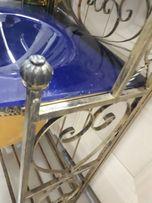 Продам умывальник с синей мойкой стекло даймонт, кованка с зеркалом