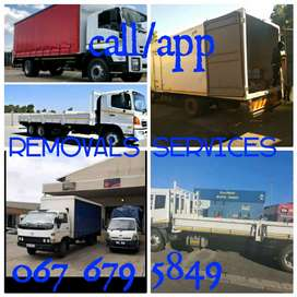 Removals services furniture and rubble