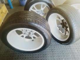 """17"""" porch tires with rims"""