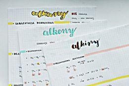 Piękne notatki z chemii do matury