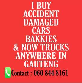 I Buy Accident Damaged Cars, Bakkies and Now Trucks.