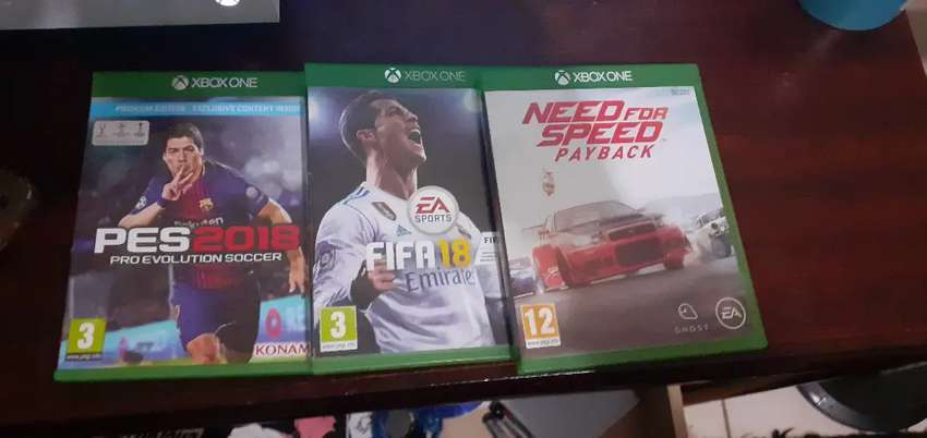 Fifa 18  Pes 18 Need for speed payback 0