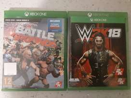 WWE BATTLEGROUNDS AND 2K18 XBOX ONE BOTH FOR R250
