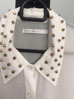 Koszula ONLY/ Mohito/zara 38/M - złote ćwieki