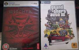 Games for sale - The Witcher and GTA 3