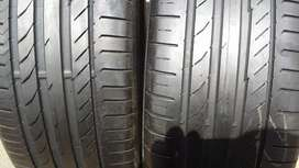 A set of 255/40/19 continental normal tyres now available