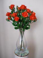 Букет кустовых роз из холодного фарфора. Ручная работа. Подарок.