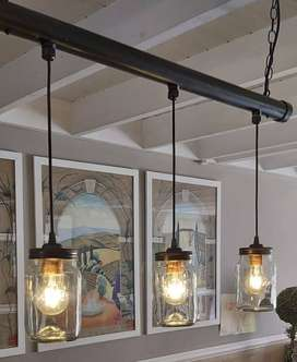 Arty Pendant Light with Consol Jars