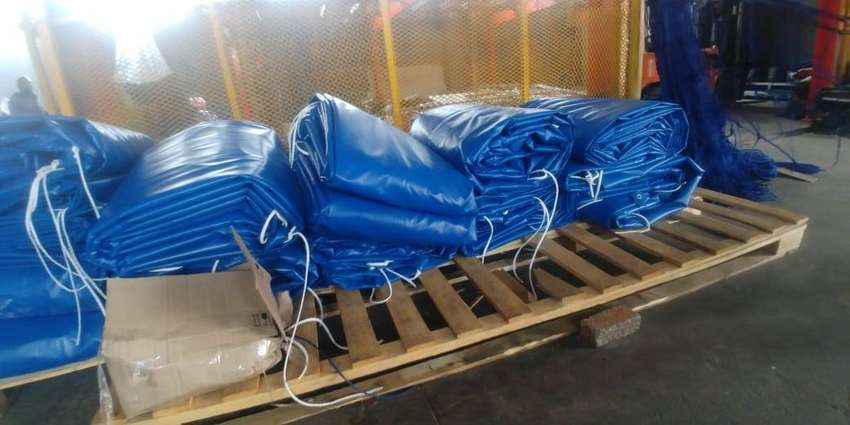ALL WEATHER PVC TRUCK COVERS/TARPAULINS AND CARGO NETS FOR SUPERLINK 0