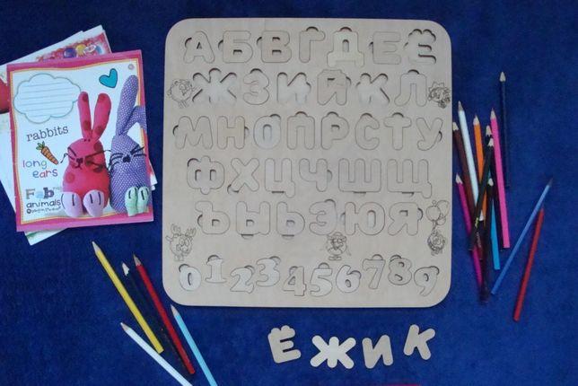 Алфавит, азбука , сортер, пазлы из дерева Чернигов - изображение 5