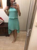 Sukienka długa wesele studniówka miętowa 36 S nowa