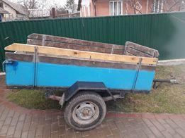 Прицеп до мінь трактора мотоблока на рессорах