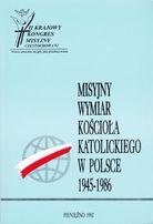 Misyjny wymiar Kościoła katolickiego w Polsce 1945 -