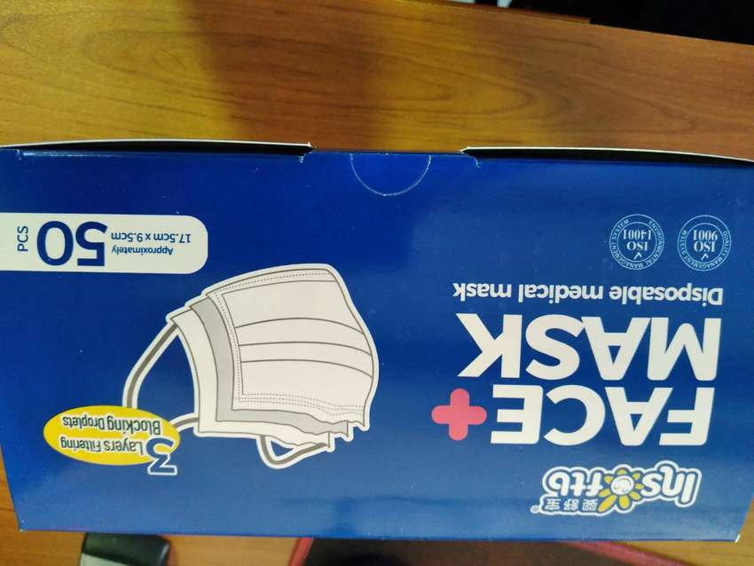 I am selling brand new mask boxes, surgical mask, 3ply 50pcs