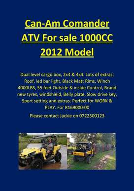 Can-Am Comander 1000C ATV  2012 model for sale