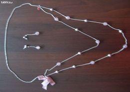 Zestaw biżuterii: naszyjnik i kolczyki