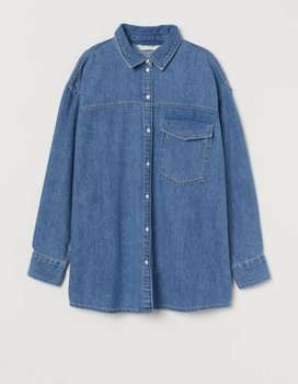 Oversized ladies denim jacket