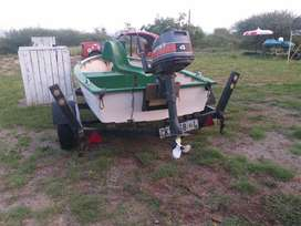 Small bass boat