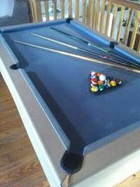 Image of Slate top pool table for home use