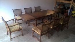 Stylowy stół i 8 krzeseł firmy Lubke meble z Niemiec
