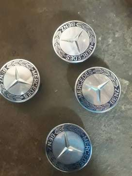 Its Mercedes rim badges