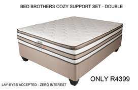 Bed Brothers Cozy Support Set - Double