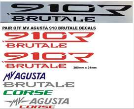 Pair off 910R Brutale side decals stickers graphics