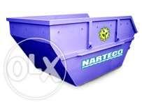 Вывоз строительного мусора / отходов съемным контейнером - накопителем