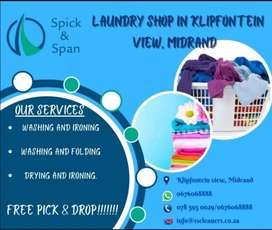 Spick and Span Laundry servicesWe