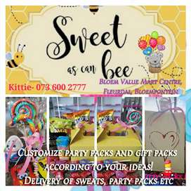 Sweets, party packs, gifts