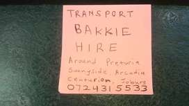 T transport and bakkie hire
