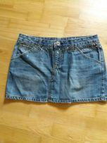 jeansowa mini.L dzety cyrkonie xl jasna spodnica jeans