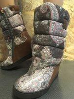 Buty na koturnach z futerkiem nowe butik Kropówki Zakopane