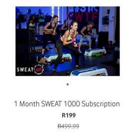 2 Months SWEAT 1000 subscription!