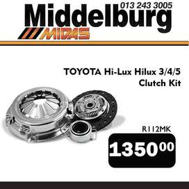 Toyota Hilux Clutch Kit ONLY R 1350!