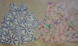 2 letnie sukieneczki Next baby na 68, śliczne