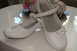 Białe buty rozm. 34 na małym obcasie