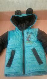 Куртка-жилетка демисезонная на мальчика, рост 104