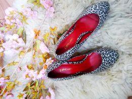 Босоножки туфли с леопардовым принтом
