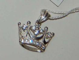 цепочка серебро 925 и кулон корона