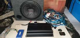 Pioneer Sub. XTC Amp. Parrot blootooth system