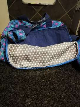 Kipling nappy bag with dummy and food/bottle holder
