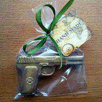 """Мыло """"Пистолет"""" ручной работы - подарок на День защитника 23 февраля!"""