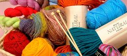 нитки для вязания - сток, крем и секонд хенд