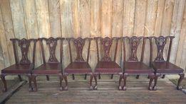 Wiktoriańskie krzesła tekowe