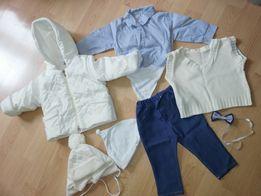 Ubranko, ubranie do Chrztu Św. dla Chłopca, komplet, rozm. 68
