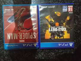 Ps4 games black ops 4 and new spiderman